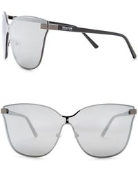 Kenneth Cole Reaction - 55mm Metal Oversized Sunglasses - Lyst
