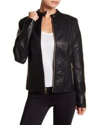 Warrior by Danica Patrick Active - Faux Leather Moto Jacket - Lyst