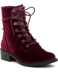 Circus by Sam Edelman - Dawnson Crystal Embellished Lace-up Boot - Lyst