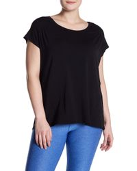 Zella - Cascade Scoop Neck Tee (plus Size) - Lyst