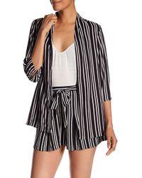 Angie - Striped Blazer - Lyst