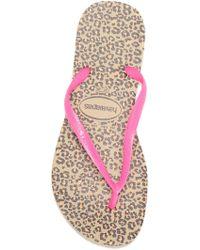 db942631105 Havaianas - Slim Animal Print Flip Flop (women) - Lyst