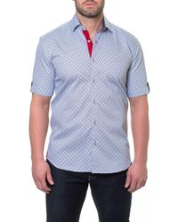 Maceoo - Fresh Ripple Grey Short Sleeve Modern Fit Shirt - Lyst