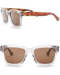 065c13a30bcb5 Lyst - Gucci Men s Rectangle Metal Frame Sunglasses in Brown for Men