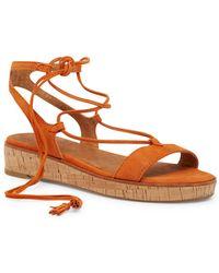 Frye - Miranda Gladiator Lace Up Sandals - Lyst