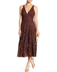 Dress the Population - Madelyn Midi Lace Dress - Lyst