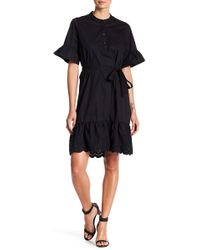 Joe Fresh - Woven Ruffle Accent Dress - Lyst