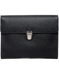 Dolce & Gabbana - Flat Leather Briefcase - Lyst