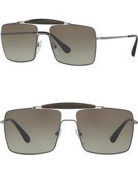 9e7883dfd792 Lyst - Prada Square Catwalk 55mm Sunglasses in Blue for Men