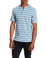 Weatherproof - Striped Short Sleeve Henley Tee - Lyst