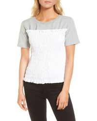 Chelsea28 - Smocked Sweatshirt - Lyst