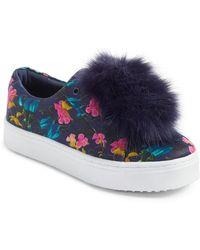 Sam Edelman - 'leya' Faux Fur Laceless Sneaker - Lyst