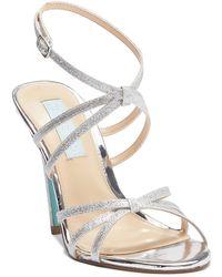 Betsey Johnson - Myla Glitter Strap High Heel Sandal - Lyst
