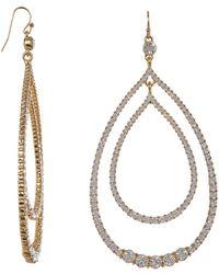 Trina Turk - Stone Double Teardrop Earrings - Lyst