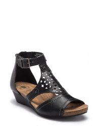 Earth - Hermia Leather Wedge Sandal - Lyst