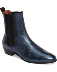 H by Hudson - Kenny Leather Bootie - Lyst