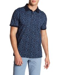 Tocco Toscano - Short Sleeve Neat Printed Jersey Polo - Lyst