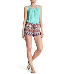 Analili - Knit Trim Print Shorts - Lyst