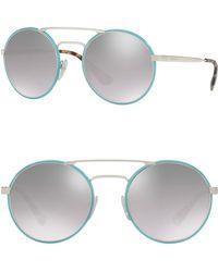 7376107bf9ea4 Lyst - Prada Catwalk Aviator Sunglasses in Brown