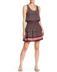 Kate Spade - Smocked Waist Print Cover Up - Lyst
