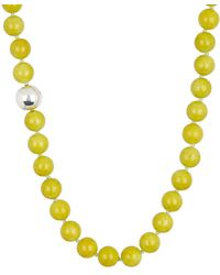 Simon Sebbag - Sterling Silver Lime Mountain Jasper Bead Necklace - Lyst