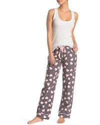 17d7a0ce089 Lyst - Pj Salvage S  39 More Love Flannel Pajama Set in Pink