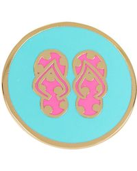 Ariella Collection | Double Flip Flop Enamel Ring | Lyst
