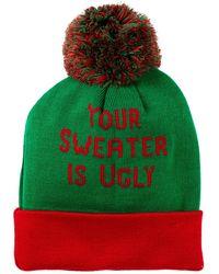 Bioworld - Ugly Sweater Cuffed Beanie - Lyst