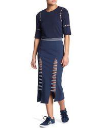 Lime & Vine - Alaina High Waist Double Slit Elastic Skirt - Lyst