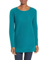 Halogen - High/low Wool & Cashmere Tunic Jumper - Lyst