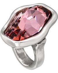 Uno De 50 - Flash Faceted Gradient Pink Swarovski Crystal Ring - Lyst