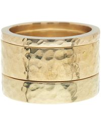 Soko - Hammered Band Ring - Set Of 3 - Lyst
