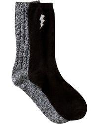 Steve Madden - Lightening Bolt Embroidered Boot Socks - Pack Of 2 - Lyst