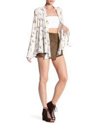 Dress Forum - Faux Suede Wrap Shorts - Lyst