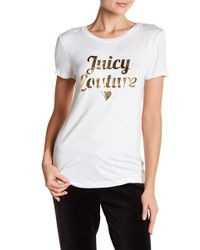 Juicy Couture | Cursive Heart Graphic Tee | Lyst