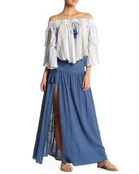 Surf Gypsy - Smocked Lace Waist Maxi Skirt - Lyst