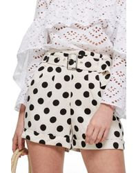 TOPSHOP - Polka Dot Shorts - Lyst