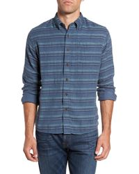 Grayers - Harcourt Modern Fit Double Cloth Striped Sport Shirt - Lyst