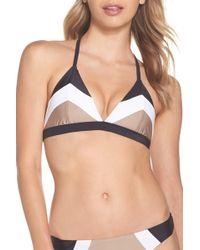 Pilyq - Colorblock Triangle Bikini Top - Lyst
