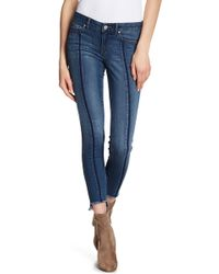 William Rast - Step Hem Ankle Skinny Jeans - Lyst