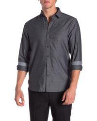Tocco Toscano - Twill Regular Fit Sport Shirt - Lyst