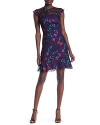 Donna Morgan - Embroidered Floral Cap Sleeve Dress - Lyst