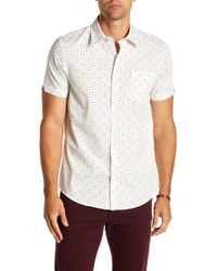 Ben Sherman - Scattered Geo Print Short Sleeve Regular Fit Shirt - Lyst