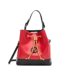 Valentino By Mario Valentino - Guillame Leather Bucket Bag - Lyst