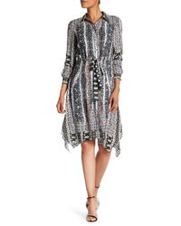Tahari - Print Georgette Shirt Dress - Lyst