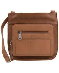 Perlina Clare Leather Passport Crossbody Bag