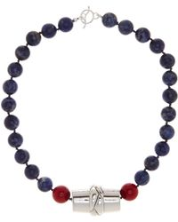 Simon Sebbag - Sterling Silver Sodalite Beaded Barrel Necklace - Lyst