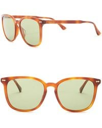 be6b1839d Gucci Women's Round Sunglasses - Lyst