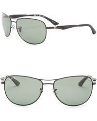 Ray-Ban - 59mm Polarized Aviator Sunglasses - Lyst