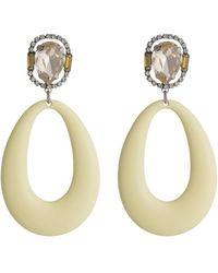 DANNIJO - Elvis Prong Set Crystal & Oval Drop Earrings - Lyst